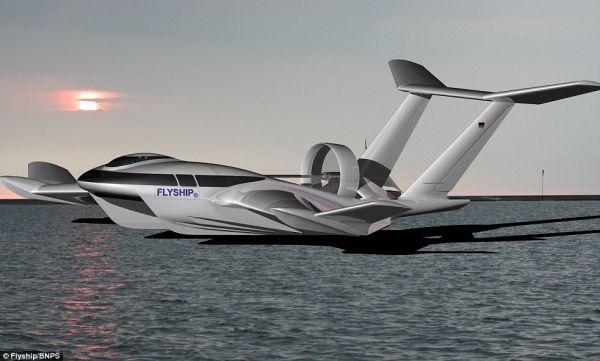 民航资源网2016年1月26日消息:据《每日邮报》报道,为了满足人们日益增长的运输和出行需求,德国一个工程团队正在研发一种叫FlyShip的地效飞行器,速度可达250千米/小时,造价约3700万美元。   该研发公司表示,这种既可作船又可作飞机的新型交通工具主要可用于水上货物运输,同时也可作为运送乘客的商用交通工具,甚至可用作海岸巡逻队的快速反应工具。它在运输货物时可达250千米每小时的高速度,远比现在的集装箱货船25节的速度快得多。和飞机相比,FlyShip的运输费用更为低廉。    图:德国工程